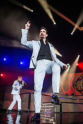 © Licensed to London News Pictures . 05/04/2014 . Manchester , UK . Kevin Richardson . The Backstreet Boys play at the Phones4U Arena in Manchester this evening (Saturday 5th April 2014) . Photo credit : Joel Goodman/LNP
