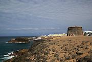 Fortified tower, Fortaleza del Toston, El Cotillo, Fuerteventura, Canary Islands, Spain