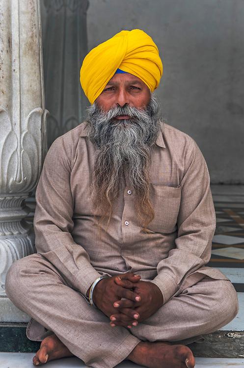 Portrait of a Sikh pilgrim, the Golden Temple, Amritsar, Punjab