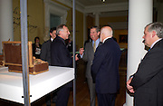 Prince Charles, Peter Greenaway and Sir Peter Moores, Official opening Compton Verney, 23 March 2004. ONE TIME USE ONLY - DO NOT ARCHIVE  © Copyright Photograph by Dafydd Jones 66 Stockwell Park Rd. London SW9 0DA Tel 020 7733 0108 www.dafjones.com