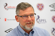 Heart of Midlothian 15-02-2019. Press Conference 150219