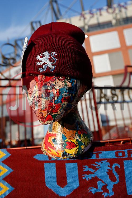 Aston Villa hats on sale outside Villa Park - Photo mandatory by-line: Rogan Thomson/JMP - 07966 386802 - 07/04/2015 - SPORT - FOOTBALL - Birmingham, England - Villa Park - Aston Villa v Queens Park Rangers - Barclays Premier League.