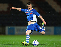 Donal McDermott of Rochdale fires a shot at goal  - Mandatory byline: Matt McNulty/JMP - 07966 386802 - 06/10/2015 - FOOTBALL - Spotland Stadium - Rochdale, England - Rochdale v Chesterfield - Johnstones Paint Trophy
