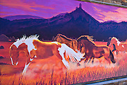 Mural of wild horses, Pagosa Springs, Colorado