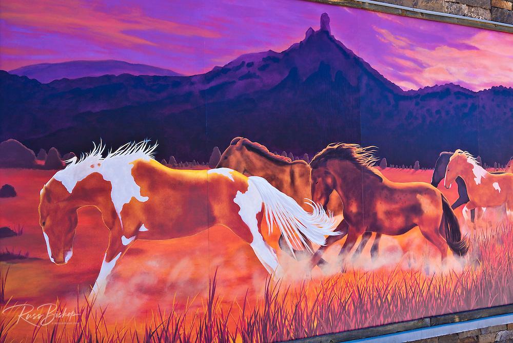 Mural of wild horses, Pagosa Springs, Colorado