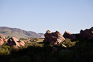 Red Rocks in the South Valley Park Ken-Caryl Ranch Open Space in Colorado. WATERMARKS WILL NOT APPEAR ON PRINTS OR LICENSED IMAGES.