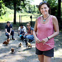 Nederland, Amsterdam , 25 juli 2012..Hanneke van Ormondt campagneleider en woordvoerder van Stichting Wakker Dier..Foto:Jean-Pierre Jans
