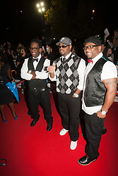 Shawn Stockman, Nathan Morris and Wayne Morris from Boyz II Men..Arrivals on the red carpet at the MOBO Awards 2011 at the SECC on October 5, 2011 in Glasgow, Scotland..Pic © Michael Schofield.
