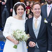 NLD/Apeldoorn/20130105 - Huwelijk prins Jaime en prinses Viktoria Cservenyak, bruidspaar