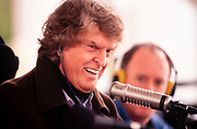 Radio talk show host Don Imus on the air from the Georgia Governor's Mansion in 1997.Governor Zell Miller, guest. John Donald Imus Jr. (born July 23, 1940) is an American former radio personality, television show host, recording artist, and author. He is known for his radio show Imus in the Morning which aired on various stations and digital platforms nationwide until 2018. A former railroad brakeman and miner, Imus attended broadcasting school in the 1960s and secured his first radio job in 1968 at KUTY in Palmdale, California. Three years later, he landed the morning spot at WNBC in New York City before his firing in 1977.<br /> <br /> In 1979, Imus returned to WNBC and stayed at the station until 1988 when the show moved to WFAN. Imus gained widespread popularity when the show entered national syndication in 1993. He was labelled a shock jock radio host throughout his later career and his programs have been popular and controversial.[1] After nearly 50 years on the air, Imus retired from broadcasting in March 2018
