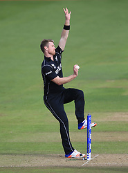 New Zealand's Jimmy Neesham during the ICC Champions Trophy, Group A match at Sophia Gardens, Cardiff. PRESS ASSOCIATION Photo. Picture date: Friday June 9, 2017. See PA story CRICKET India. Photo credit should read: Nigel French/PA Wire. RESTRICTIONS: Editorial use only. No commercial use without prior written consent of the ECB. Still image use only. No moving images to emulate broadcast. No removing or obscuring of sponsor logos.