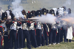 June 18, 2017 - Waterloo, Belgium - History lovers take part in a re-enactment of the Battle of Waterloo. (Credit Image: © Ye Pingfan/Xinhua via ZUMA Wire)