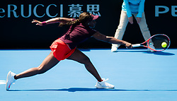 January 8, 2019 - Sidney, AUSTRALIA - Sloane Stephens of the United States in action during her first-round match at the 2019 Sydney International WTA Premier tennis tournament (Credit Image: © AFP7 via ZUMA Wire)