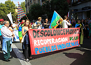 Political rally march on Columbus Day, Fiesta Nacional de España, October 12 2017, Madrid, Spain