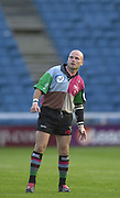 Twickenham, Surrey, England,  UK., 14/05/2003, PAUL BURKE WATCH'S HIS KICK GO THROUGH THE POSTS, during, the Zurich Premiership Rugby match, NEC Harlequins vs Leicester Tigers, played at the Stoop Memorial Ground, [Mandatory Credit: Peter Spurrier/Intersport Images]