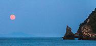 Chorefto, Pelion, Greece - July, 2021: Agii Saranta Beach