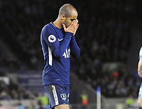 Football - 2017 / 2018 Premier League - Brighton & Hove Albion vs. Tottenham Hotspur<br /> <br /> Lucas Moura of Tottenham misses another chance, at The Amex.<br /> <br /> COLORSPORT/ANDREW COWIE