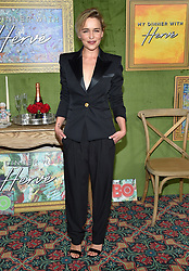 October 4, 2018 - Hollywood, California, U.S. - Emilia Clarke arrives for the HBO's 'My Dinner With Herve' Los Angeles Premiere on the Paramount Studios Lot. (Credit Image: © Lisa O'Connor/ZUMA Wire)
