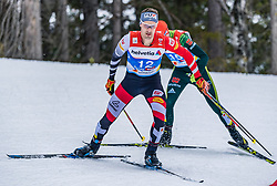 22.02.2019, Seefeld, AUT, FIS Weltmeisterschaften Ski Nordisch, Seefeld 2019, Nordische Kombination, Langlauf, im Bild Lukas Klapfer (AUT) // Lukas Klapfer of Austria during the Cross Country Competition of Nordic Combined for the FIS Nordic Ski World Championships 2019. Seefeld, Austria on 2019/02/22. EXPA Pictures © 2019, PhotoCredit: EXPA/ Stefan Adelsberger