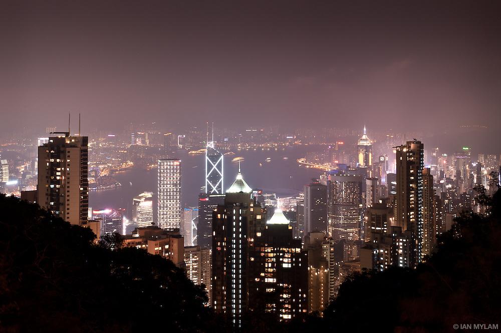 Hong Kong Skyline from Victoria Peak - Hong Kong, China