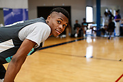 ST. LOUIS, MO June 8, 2018 - Nike Elite 100.   Keondre Montgomery 2020 #55 of MEBO poses for camera. <br /> NOTE TO USER: Mandatory Copyright Notice: Photo by Jon Lopez / Nike
