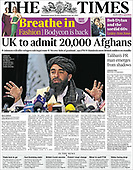 August 18, 2021 - UK: Front-page: Today's Newspapers In United Kingdom