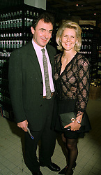 Designer LINDKA CIERACH and MR DEREK PARKES  at a<br />  party in London on 13th May 1997.LYG 87