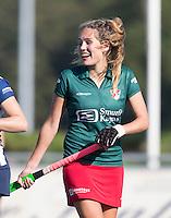 DEN HAAG - Rosalie de Beer van MOP  tijdens de hoofdklasse hockey competitie wedstrijd tussen de dames van HDM en MOP (1-1). COPYRIGHT KOEN SUYK