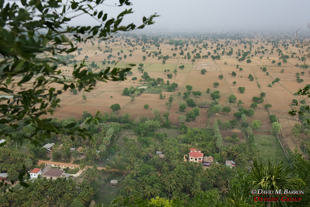 View From Phnom Sampeau Pagoda
