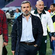 Torku Konyaspor's coach Aykut Kocaman during their Turkish superleague soccer match Besiktas between Torku Konyaspor at Osmanli Stadium in Ankara Turkey on Monday 18 May 2015. Photo by Aykut AKICI/TURKPIX