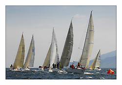Bell Lawrie Scottish Series 2008. Fine North Easterly winds brought perfect racing conditions in this years event..Classes 2 and 3 at top mark with IRL 3550 Exaltation and Storm