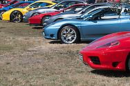 Ferrari cars lined up - Custom Cars & Coffee November 2014