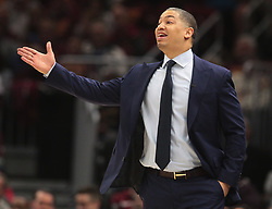 April 25, 2018 - Cleveland, OH, USA - Cleveland Cavaliers head coach Tyronn Lue on the sidelines against the Indiana Pacers during the second quarter in Game 5 of a first-round playoff series on Wednesday, April 25, 2018, at Quicken Loans Arena in Cleveland. (Credit Image: © Leah Klafczynski/TNS via ZUMA Wire)