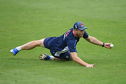 England's David Willey during the nets session at Cardiff Wales Stadium.