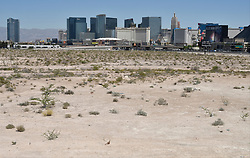 May 4, 2017 - Las Vegas, Nevada, U.S. -  The Oakland Raiders finalized the purchase of 62 acres near the Las Vegas strip that will be the site of the stadium to be built in time for the 2020 NFL season on Monday. The listed the purchase price of the land, which is located near the Mandalay Bay resort sold for  $77.5 million. (Credit Image: © Gene Blevins via ZUMA Wire)