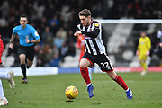 Grimsby Town player Elliot Embleton (22)  during the EFL Sky Bet League 2 match between Grimsby Town FC and Milton Keynes Dons at Blundell Park, Grimsby, United Kingdom on 26 January 2019.