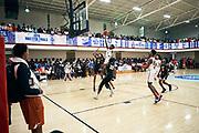 NORTH AUGUSTA, SC. July 10, 2019. Treylon Payne  2020 #1 of Woodz Elite 17U lays the ball in at Nike Peach Jam in North Augusta, SC. <br /> NOTE TO USER: Mandatory Copyright Notice: Photo by Royce Paris / Jon Lopez Creative / Nike