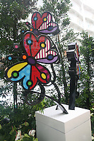 Launch of Royal Caribbean International's newest ship Allure of the Seas..Britto sculpture on Central Park.