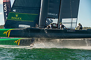 SailGP Australia Team  in race two on day one of competition. Event 1 Season 1 SailGP event in Sydney Harbour, Sydney, Australia. 15 February 2019. Photo: Chris Cameron for SailGP. Handout image supplied by SailGP