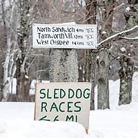 Sandwich Sled Dog Races sign.