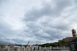 September 11, 2017 - Roma, RM, Italy - Perspectives and views from the terrace of Victorian in Rome, with the Colosseum and the Imperial Forums. (Credit Image: © Pacific Press via ZUMA Wire)