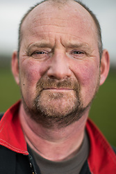 © Licensed to London News Pictures . 10/03/2017 . Preston , UK . Allan Wensley at Plumpton Hall Farm . Allan faces protests from neighbours and environmental campaigners after renting fields around his farm to fracking firm Cuadrilla . Photo credit : Joel Goodman/LNP