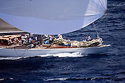 Ranger sailing in the Butterfly Race at the Antigua Classic Yacht Regatta.