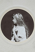 Victorian style vintage portrait of young girl