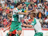 Jubel 0:1 v.l. Torsten Frings , Markus Rosenberg Bremen<br /> Bundesliga Bayer 04 Leverkusen - SV Werder Bremen 0:1<br /> <br /> Norway only