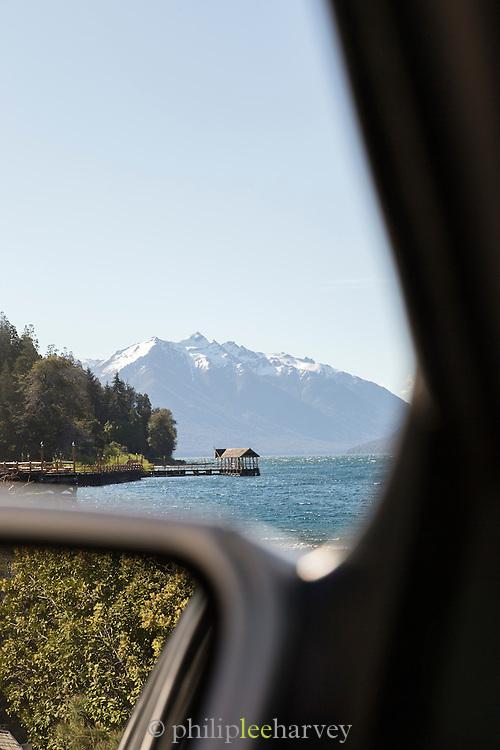 view of Wooden Pier, Lago Traful, Neuqu?n Region, Argentina, South America