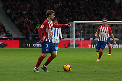 October 27, 2018 - Madrid, Madrid, Spain - Griezmann (L)..during the match between Atletico de Madrid vs Real Sociedad. Atletico de Madrid won by 2 to 0 over Real Sociedad whit goals of Godin and Filipe Luis. (Credit Image: © Jorge Gonzalez/Pacific Press via ZUMA Wire)