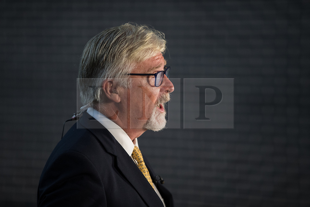 © Licensed to London News Pictures . 29/09/2017 . Torquay , UK . UKIP Interim Party Leader STEVE CROWTHER being interviewed for television , outside the conference venue . The UK Independence Party Conference at the Riviera International Centre . UKIP is due to announce the winner of a leadership election which has the potential to split the party . Photo credit: Joel Goodman/LNP