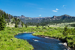 Summer in the Absaroka Mountains outside of Dubois Wyoming.