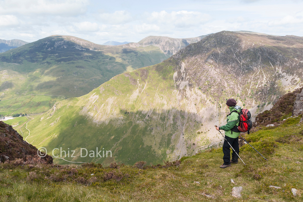 View over Fleetwith Pike from near the summit of Haystacks